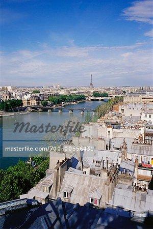 Vue sur La Seine, Paris, France