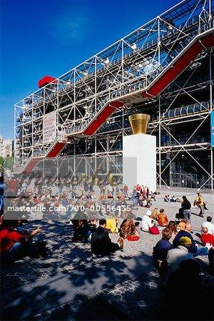 Le Centre Pompidou, Beaubourg, Paris, France