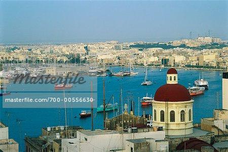 Overview of Sliema, Malta