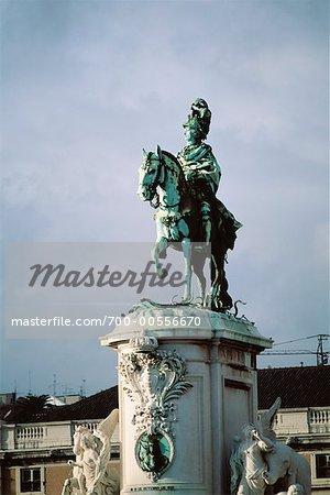 Equestrian Statue, Lisbon, Portugal