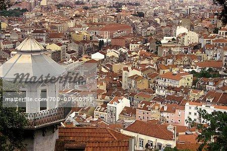 Sur les toits, Lisbonne, Portugal