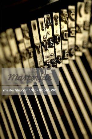 Close Up of Antique Typewriter