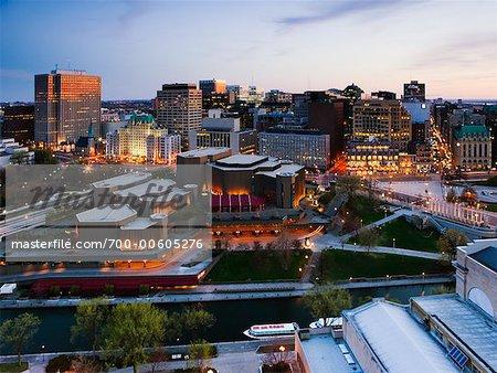 National Arts Centre and Skyline, Ottawa, Ontario, Canada