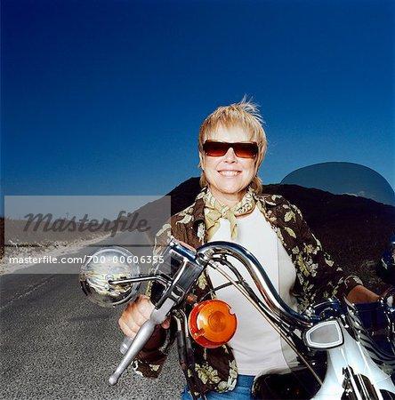 Moto équitation femme
