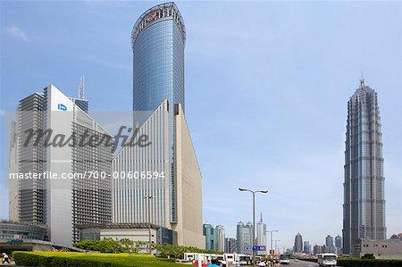 Tours à bureaux et Hyatt Hotel, Pudong, Shanghai, Chine