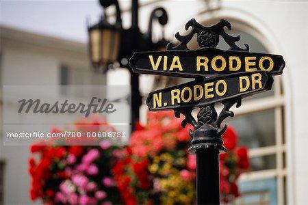 Street Sign, Beverly Hills, California, USA