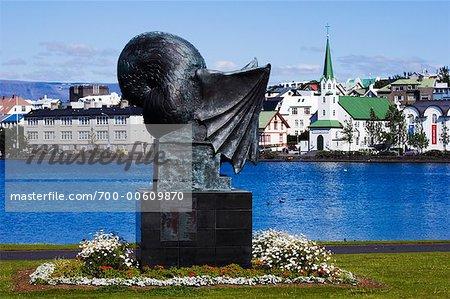Sculpture, Reykjavik, Islande