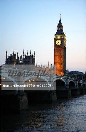 Westminster Bridge and Parliament London, England