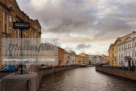 Canal, St Petersburg, Russie