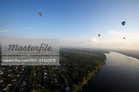 Ballons à Air chaud, St Jean, Québec, Canada