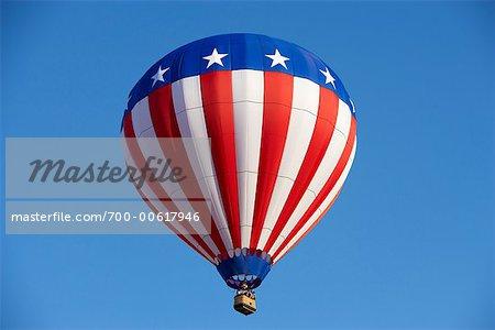 Ballon à Air chaud avec Design drapeau américain