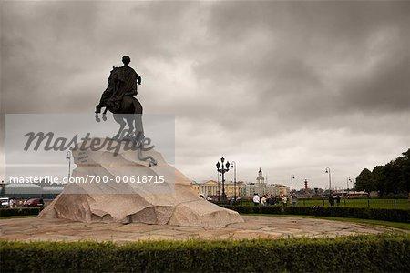 Statue, The Admiralty, Senate Square, St Petersburg, Russia