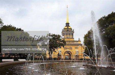 Fountain, The Admiralty, Senate Square, St Petersburg, Russia