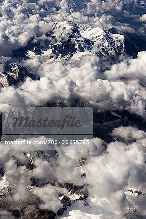 Vue aérienne du Mont Cervin
