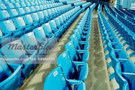 Gros plan des sièges de stade