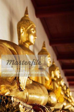 Statues de Bouddha, Wat Pho, Bangkok, Thaïlande