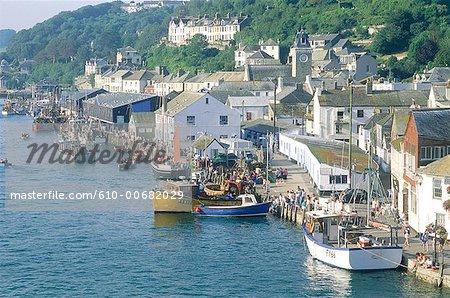 L'Angleterre, Cornwall, Looe, village de pêcheurs
