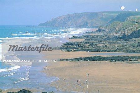 Plage de Bude Cornwall, en Angleterre,