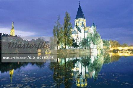 France, Lorraine, Metz, le temple