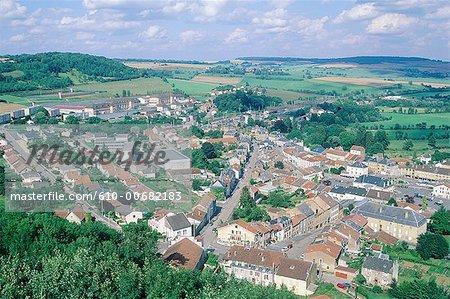 France, Lorraine, Montmedy from the citadel of Vauban