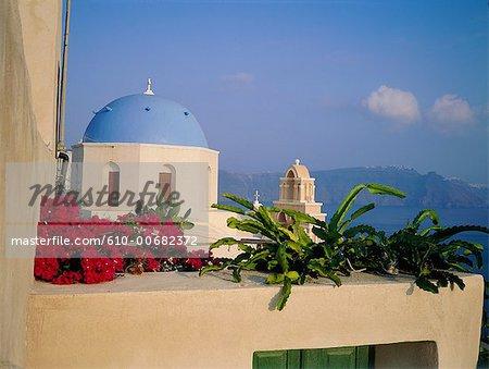 Grèce, Cyclades, Santorini, chapelle