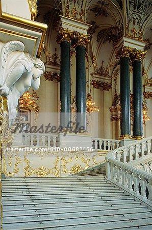 Palais d'hiver de Saint-Pétersbourg, en Russie,