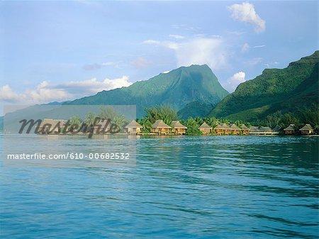 French Polynesia, Moorea island, hostel