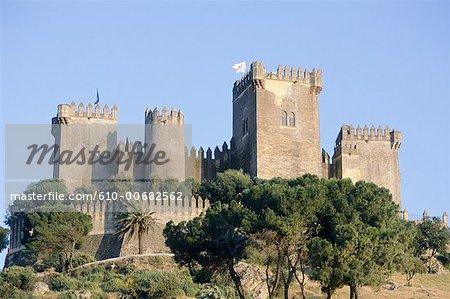 Espagne, Andalousie, près de Cordoba, château d'Almodovar del Rio