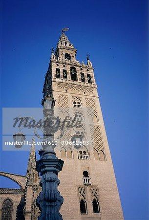Spain, Andalusia, Seville, Giralda belfry-minaret
