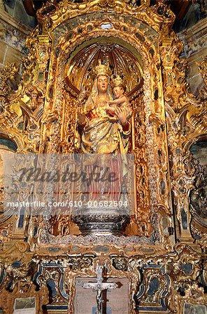 Espagne, Andalousie, Séville, cathédrale, or statue vierge