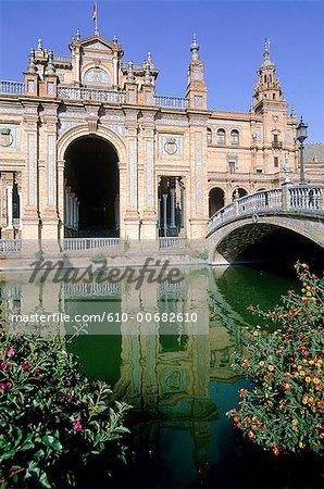 Spain, Andalusia, Seville, plaza of Espagna.