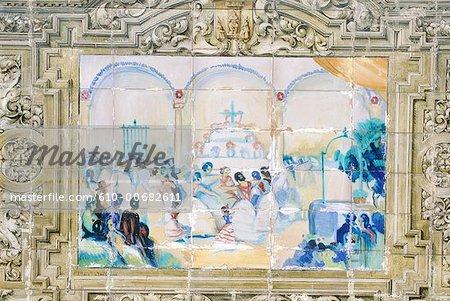 Espagne, Andalousie, Séville, Espagne carrés, azulejos