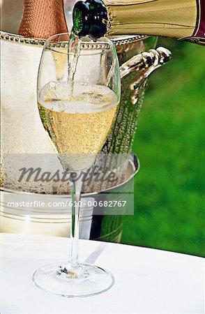 Flûte de champagne région Champagne, Reims, France