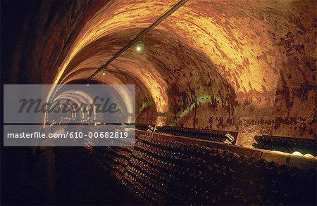 France, région Champagne, Reims, cave à vin