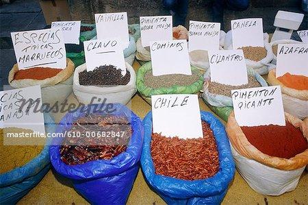 Espagne, Andalousie, Grenade, marché des épices.