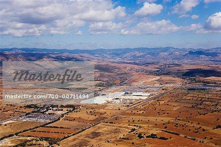 Vue aérienne de General Motors Auto usine, Leon, Guanajuato, Mexique