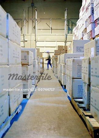 Warehouse storage aisle