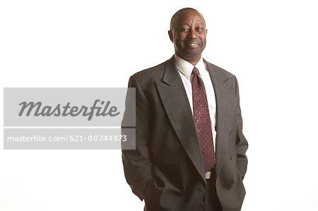 portrait of African American exec