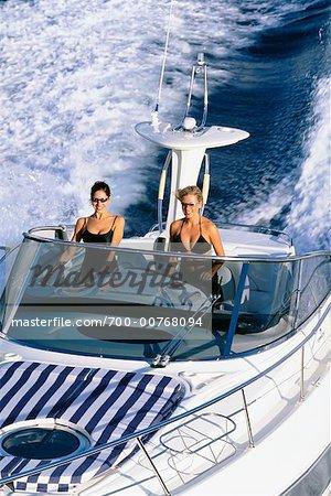 Women In Cruising Boat, Fort Lauderdale, Florida