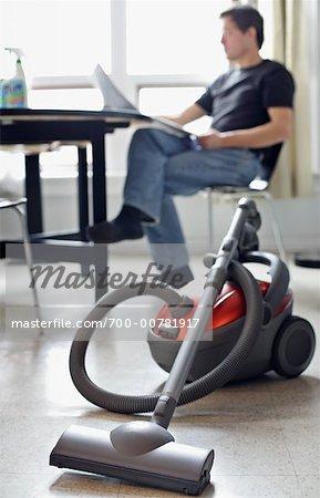 Man Avoiding Housework