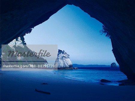 Cathédrale Cove et Te Hoho Rock, péninsule de Coromandel, Nouvelle-Zélande