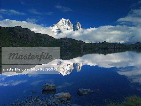 Aiguille Verte et les Lacs de Chaserys, Chamonix, France