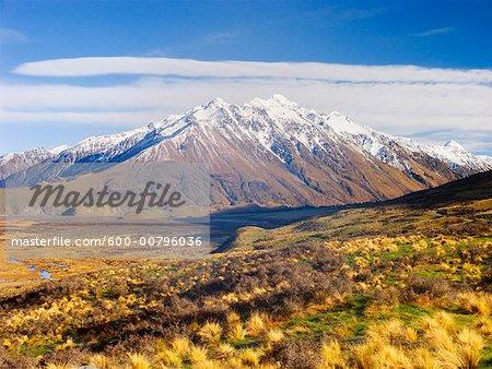 Mount D'Archiac, vallée de Rangitata, Nouvelle-Zélande