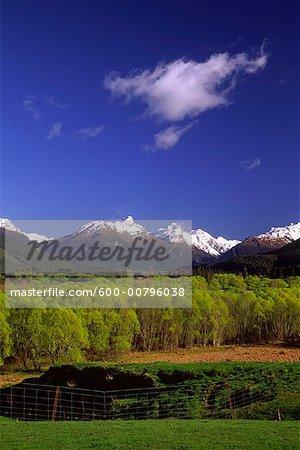 Montagnes de Humboldt, Paradise, Glenorchy, Nouvelle-Zélande