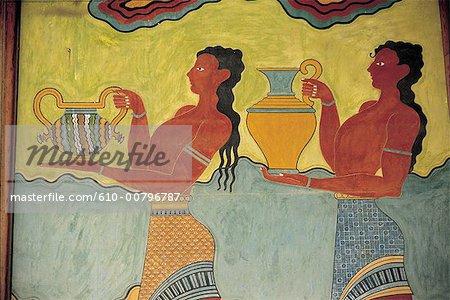 Grèce, Crète, cnossos, fresca