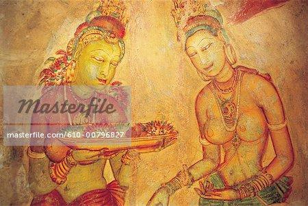 Sri Lanka, Sigiriya, fresco