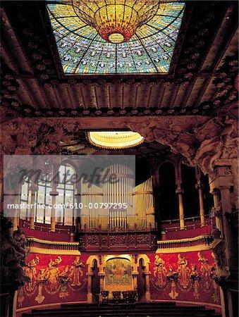 Palais de musique de Barcelone, Espagne.