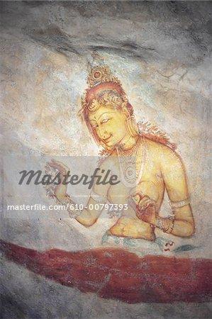 Sri Lanka, fresque de Sigiriya