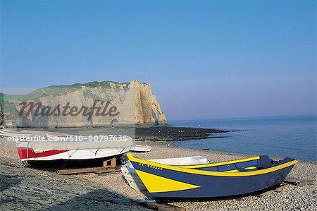 France, Normandie, plage d'Etretat
