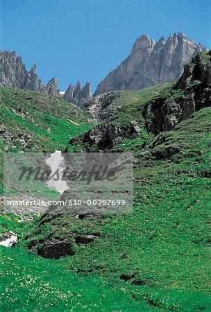 France, Alps, Valloire in summer